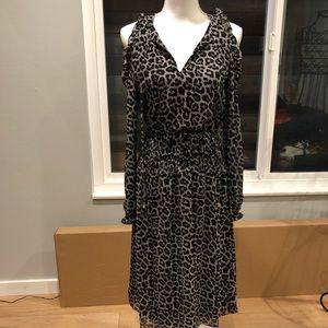 MICHAEL Michael Kors Dresses - Michael Kors Black Leopard Print Peekaboo Dress